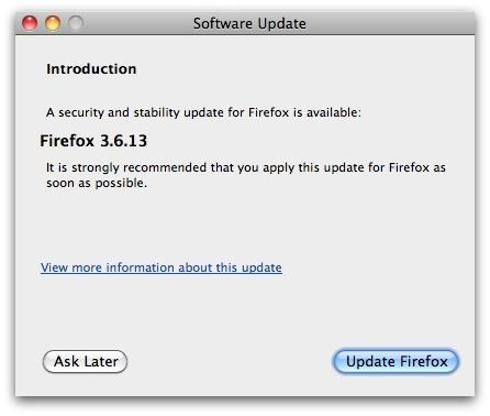 Firefox update