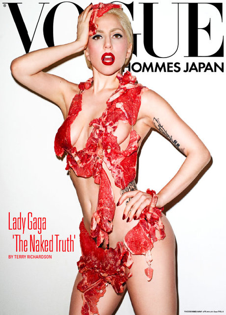 Lady Gaga on cover of Vogue