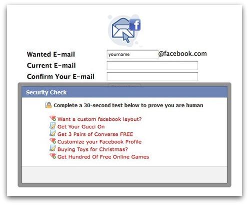 Survey scam on Facebook
