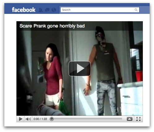 Scary prank video leads to tragedy? No, it's a Facebook scam