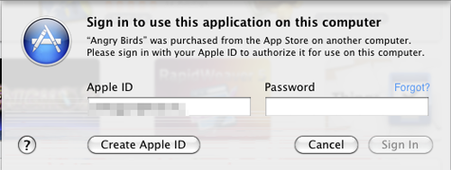 Apple program authentication
