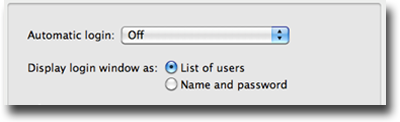 Disable automatic login - OS X