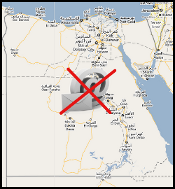 Egypt map with no email symbol