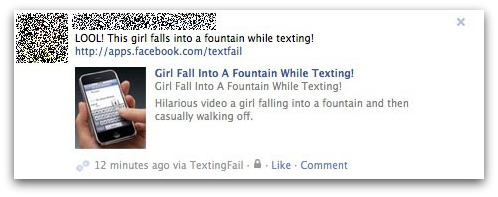 Girl falls into fountain while texting