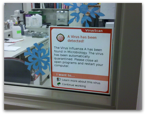 A virus has been detected! The Virus Influenza A has been found in Microbiology