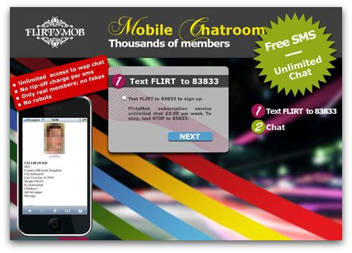 Mobile chat website