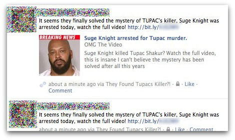 Account compromised by Suge Knight and Tupac Shakur rogue application