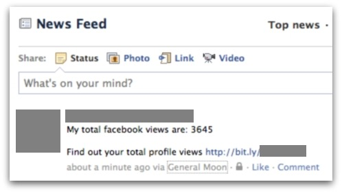My total facebook views are. Find out your total profile views