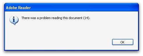 Adobe X error message