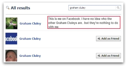 Graham Cluleys on Facebook