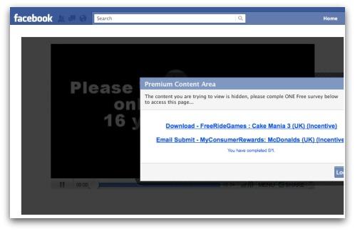Facebook survey scam