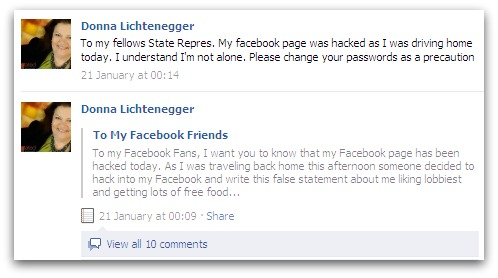 Donna Lichtenegger apologises on Facebook