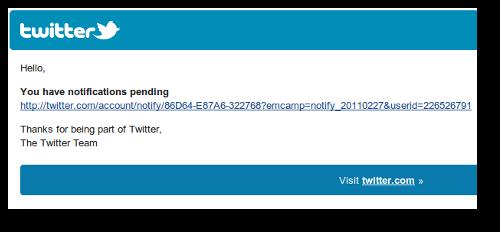 Twitter Notification spam