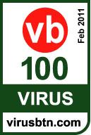 VB100 award for Sophos February 2011