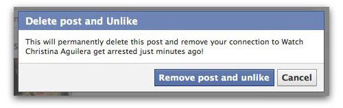 Unlike Christina Aguilera page