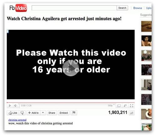 Christina Aguilera got arrested video