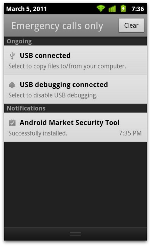 Android Market Security Tool