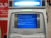 ATM with Blue screen of death