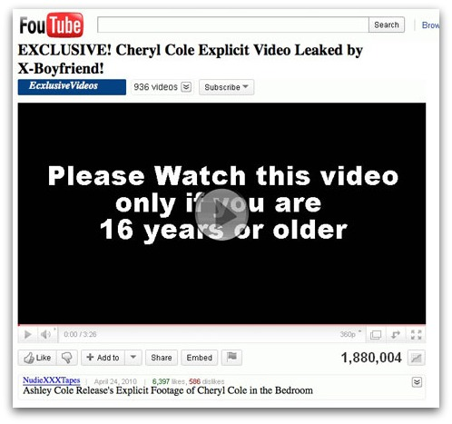 EXCLUSIVE! Cheryl Cole Explicit Video Leaked by X-Boyfriend