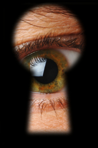 eye through keyhole