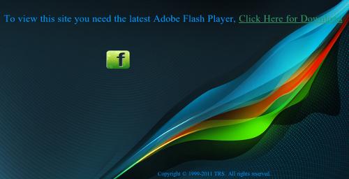 Screenshot of malvertising site