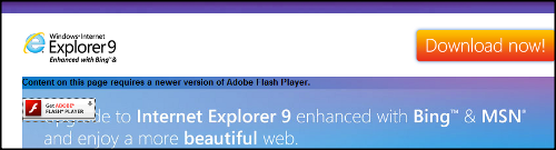 IE 9 download page