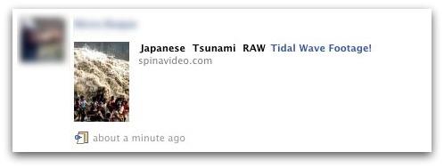 Japanese Tsunami RAW Tidal Wave Footage Facebook Message