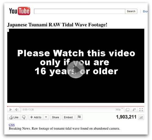 Bogus CNN video footage of Japanese tsunami