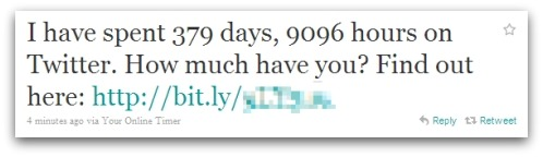 I have spent 379 days, 9096 hours on Twitter. How much have you? Find out here: