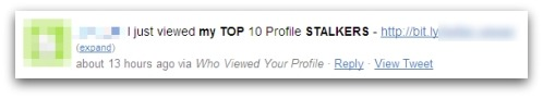 Top 10 profile stalkers - Twitter