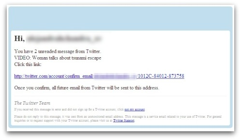 Japanese Tsunami-related malware attack posing as a Twitter notification