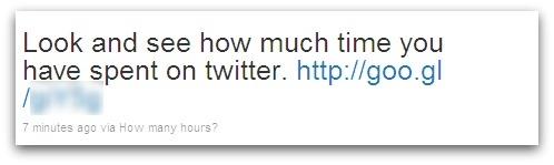 Look and see how much time you have spent on twitter.