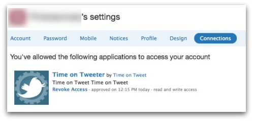 Twitter revoke app