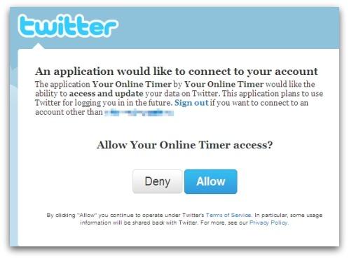 Twitter rogue app