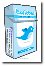 Twitter cigarette pack