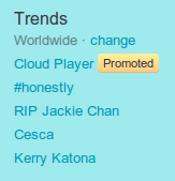Twitter Trennding topic RIP Jackie Chan