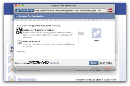 Rogue Facebook application
