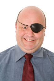 Man with an eye patch