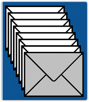 Stack of email