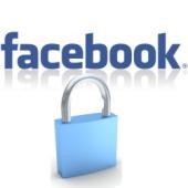 Facebook and padlock