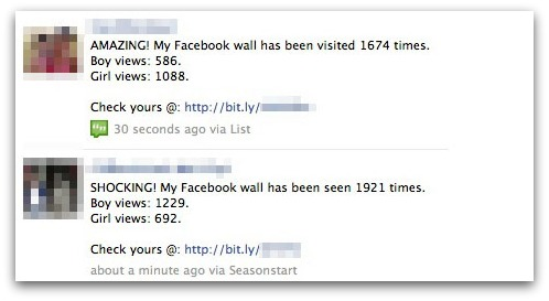 AMAZING! My Facebook wall has been seen 1674 times.