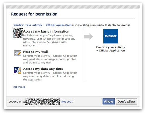 Facebook closing rogue application