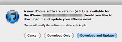 iOS update 4.3.2