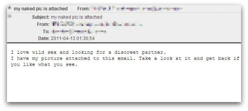 My naked picture is attached malicious email