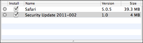 OS X 2011-002 update