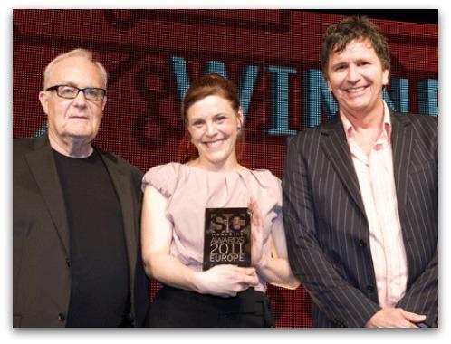 Carole Theriault receives award at SC Magazine