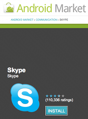 Skype in Android Market
