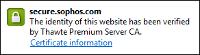 Sophos SSL cert