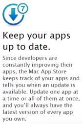 Apple's promotion of App Store updates