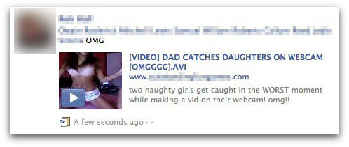 Dad catches daughters on webcam message